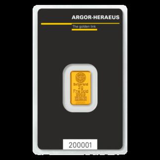 2g Gold Bar | Argor Heraeus(Front)