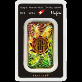 50g Gold Bar | Argor Heraeus | Kinebar(Front)
