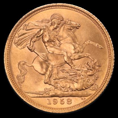 Full Sovereign Elizabeth, Gold, 1957- present(Back)