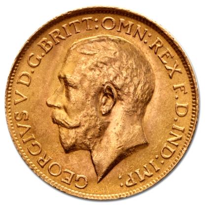 Full Sovereign Georg V, Gold, 1911-1932(Front)