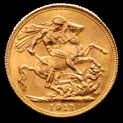 Full Sovereign Georg V, Gold, 1911-1932(Back)